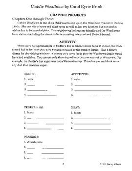Caddie Woodlawn Literature Activity Guide