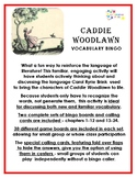 Caddie Woodlawn Vocabulary Bingo