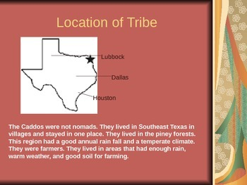 Caddo Indian Power Point - student example