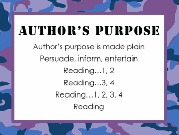Reading and Math Chants PPTS