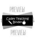 Cadet Teaching Binder