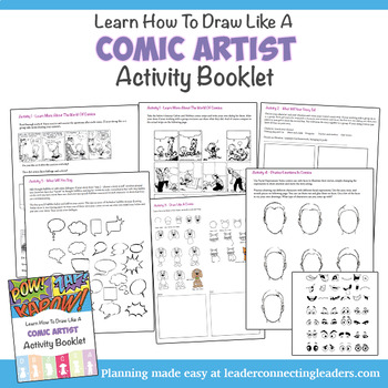 Cadette Girl Scout Comic Artist Activity Booklet