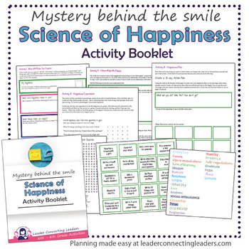 Cadette Scout Science Of Happiness Activity Booklet Tpt