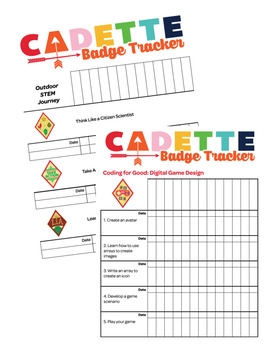 Cadette Girl Scout Troop Badge Requirement Tracker [.doc]