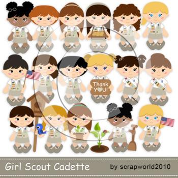 Cadette Girl scout clipart