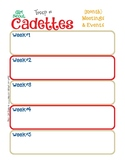 Cadette Monthly Activity Calendar Girl Scouts Editable Printable PDF Template