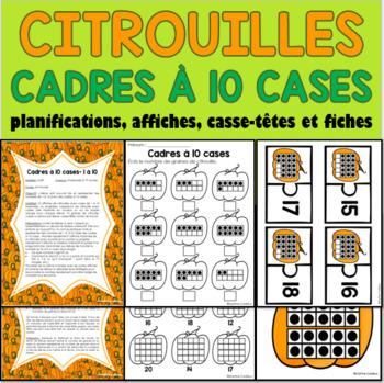 Citrouilles Halloween cadres à 10 cases - Pumpkins French