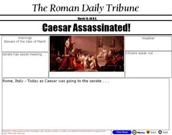Caesar Writing Activity - Three Views of Julius Caesar - Bill Burton