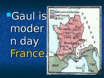 Caesar in Gaul Power Point
