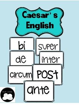 Caesar's English 1 Stems Word Wall