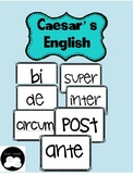 Caesar's English 1 Stems Word Wall