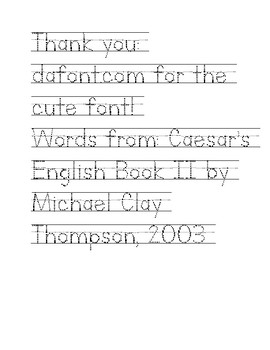 Caesar's English Book II Lesson 20 Homework