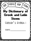 Caesar's English I Stem Dictionary