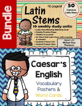 Caesar's English & Latin Stems Bundle