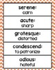 Caesar's English Vocabulary Posters & Word Cards