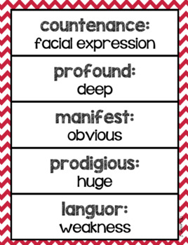 Caesar's English Vocabulary Printables (Based on Michael Clay Thompson's text)