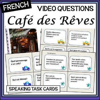 Café des Rêves – oral activity cards