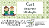 Cafe' Accuracy Strategies Interactive Notebook Foldables Bundle