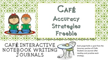 Cafe' Accuracy Strategies Interactive Notebook Foldables Freebie