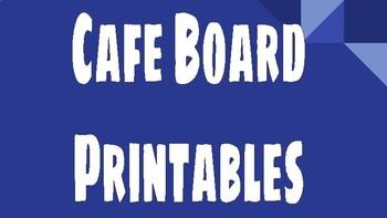Cafe Board Printables