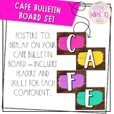 Cafe Bulletin Board - Bright Farmhouse Theme | Brown Shiplap
