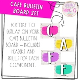 Cafe Bulletin Board - Bright Farmhouse Theme | White Shiplap