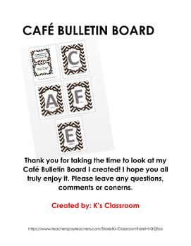 Cafe Bulletin Board Daily 5