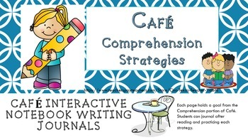 Cafe' Comprehension Strategies Interactive Notebook Foldables