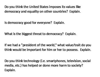 Cafe Conversation on Democracy