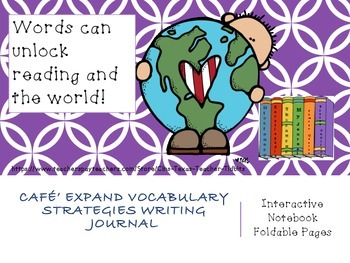Cafe' Expand Vocabulary Strategies Interactive Notebook Foldables Bundle