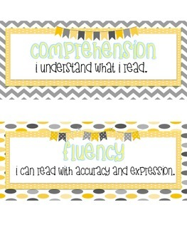 Cafe Headers and Strategy Cards Yellow and Grey