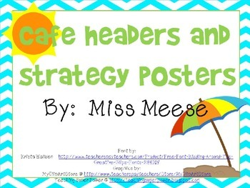 Cafe Headings and Strategy Posters (Beach and Surf Theme)