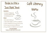 Cafe Literacy Menu for Tables