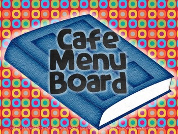Cafe Menu Board: Headers and strategy cards