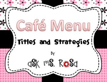 Cafe Menu - Pink Flowers