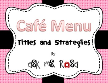 Cafe Menu - Pink and Black