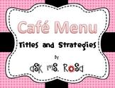 Cafe Menu - Pink and Black