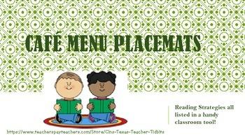 Cafe' Menu Strategy Placemats