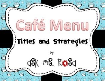 Cafe Menu - Winter Penguin