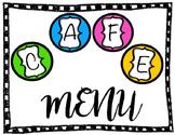 Cafe Menu in Spanish