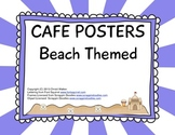 Cafe Posters - Beach Themed - Purple