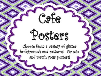 The Cafe Posters for Your Classroom menu!