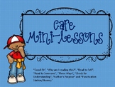 Cafe Reading Strategy Mini-Lessons