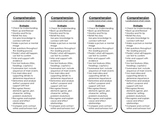 Cafe Reading Strategy Tracking Bookmarks