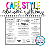Cafe/Restaurant/Placemat Syllabus Template