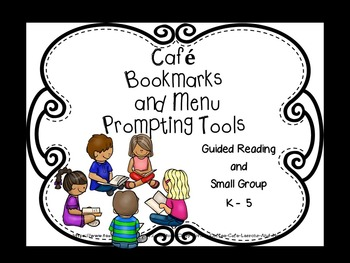 Cafe Strategies Bookmarks and Placemat menus for Prompting Practice