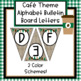 Cafe Theme Alphabet Bulletin Board Letters