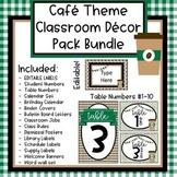 Coffee Cafe Theme Classroom Decor Bundle (Editable)