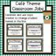 Cafe Theme Upper Elementary Classroom Jobs - Editable