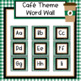 Cafe Theme Word Wall - Editable